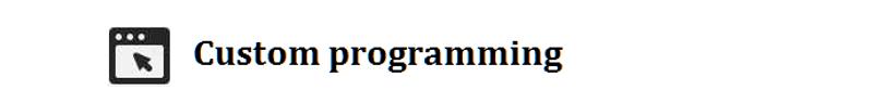 Custom_programmiing